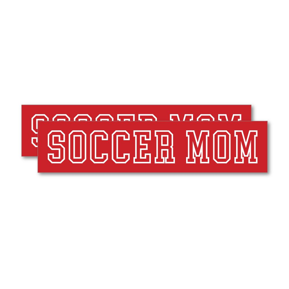 2X Soccer Mom Sticker Decal