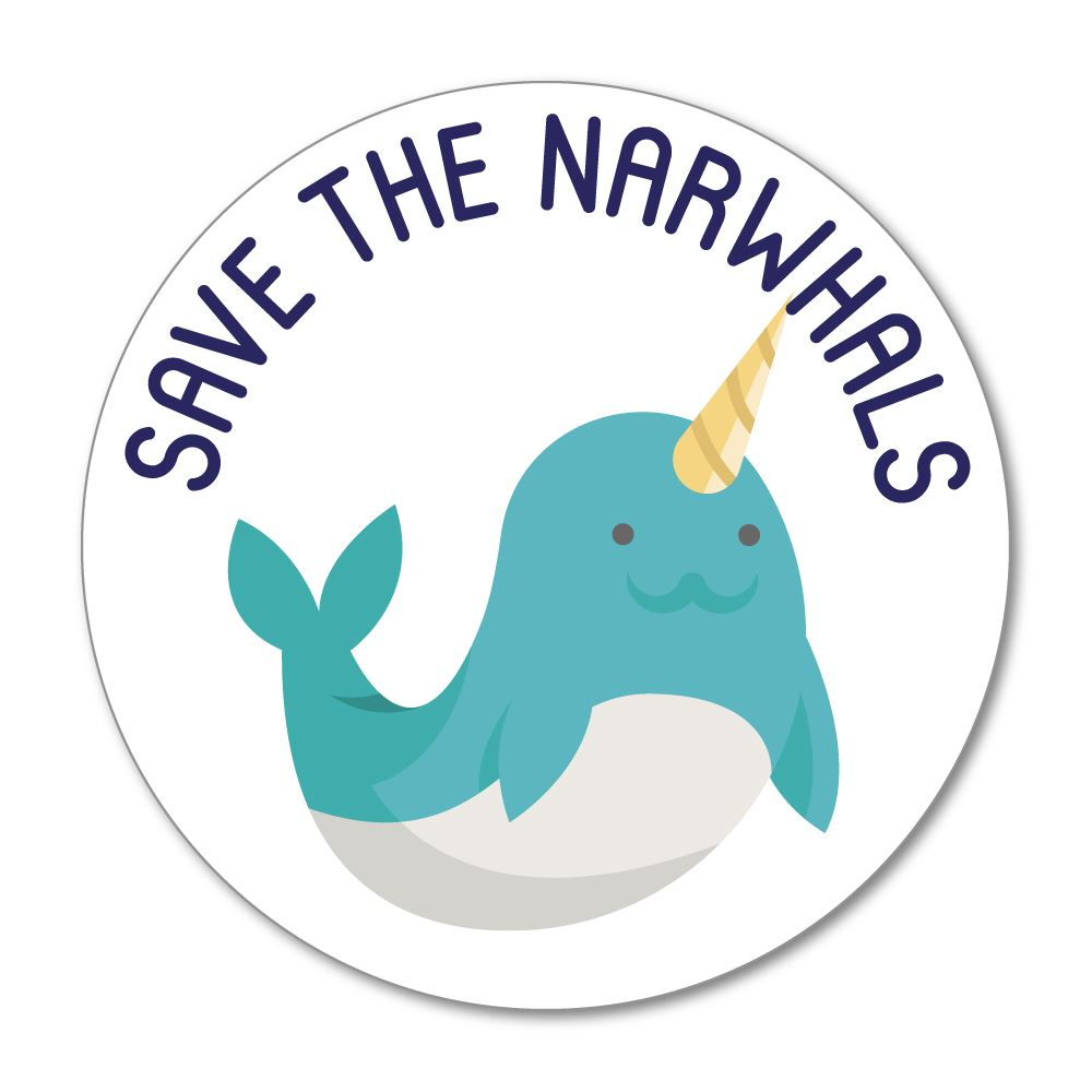 Save The Narwhals Sticker Decal
