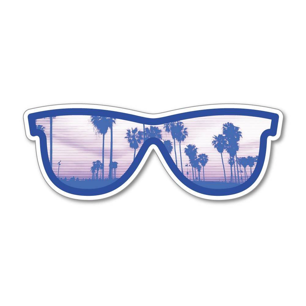 Sunglasses Sticker Decal