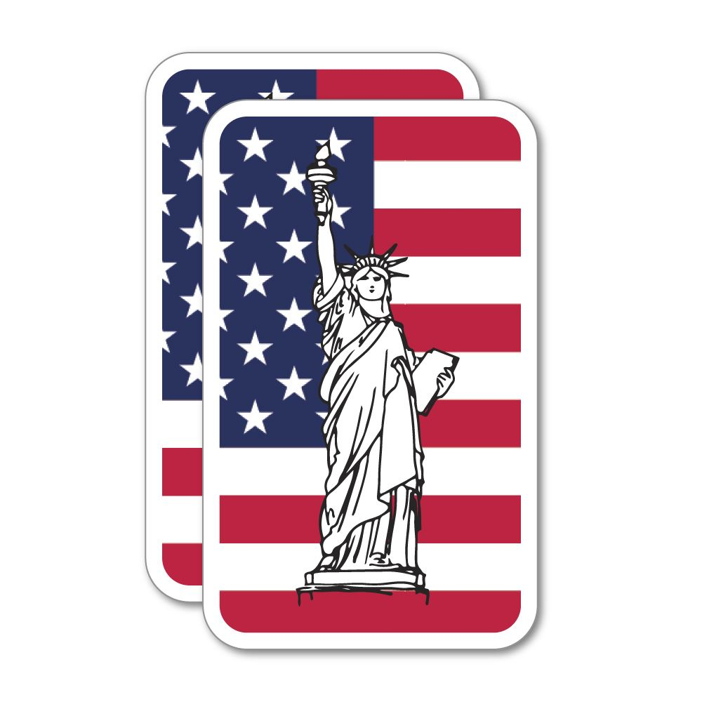 2X Usa Sticker Decal