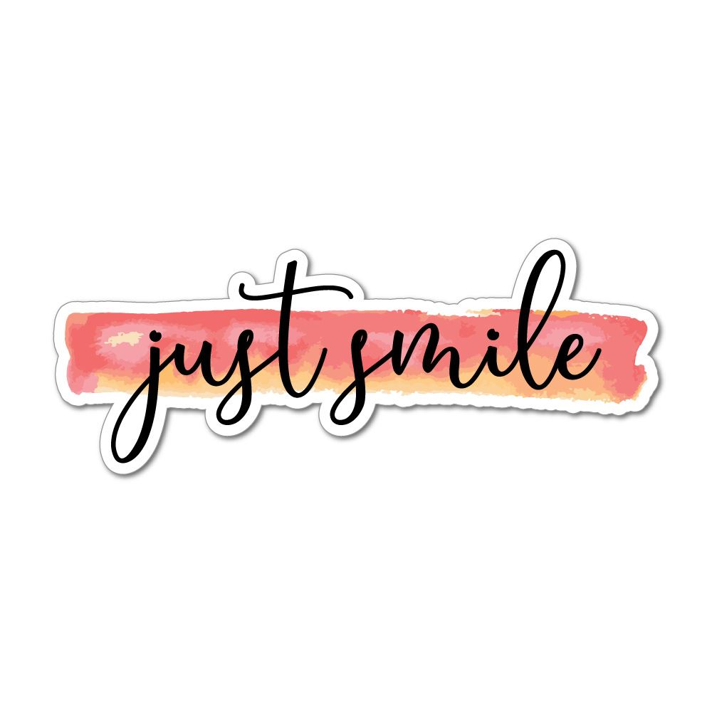 Just Smile Laptop Car Sticker Decal