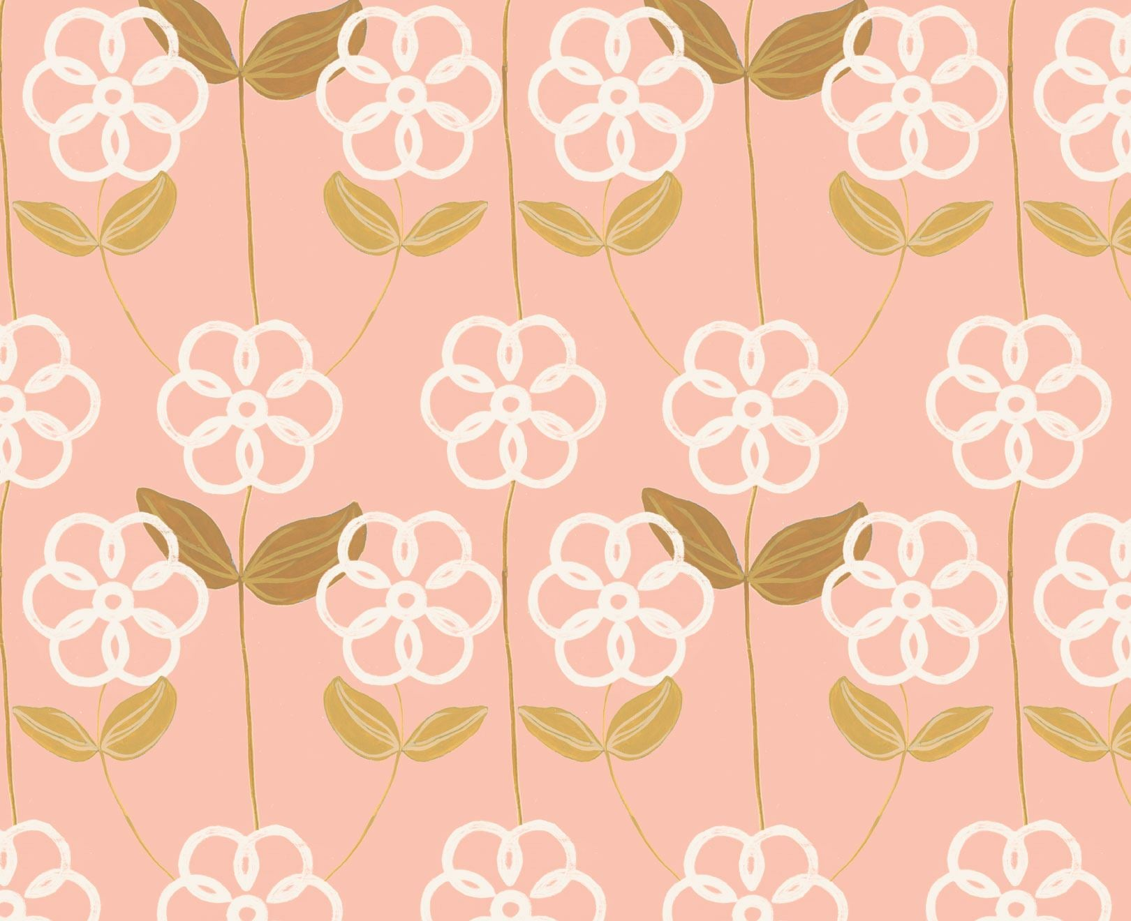 Spring Peach Floral Wallpaper Nature Wall Murals And Wallpaper