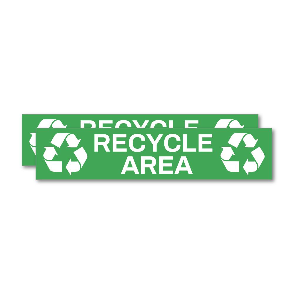 2X Recycle Area Sticker Decal