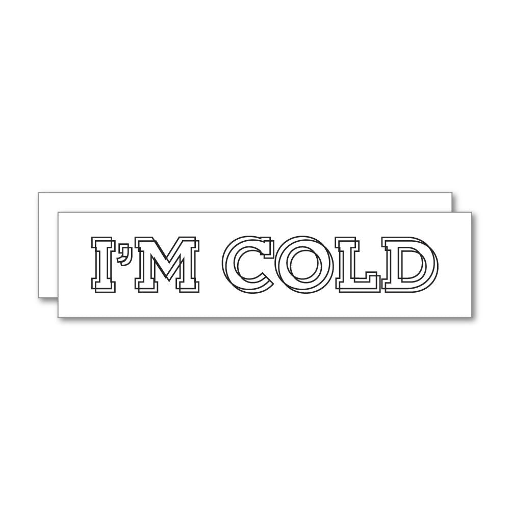 2X Cold Sticker Decal