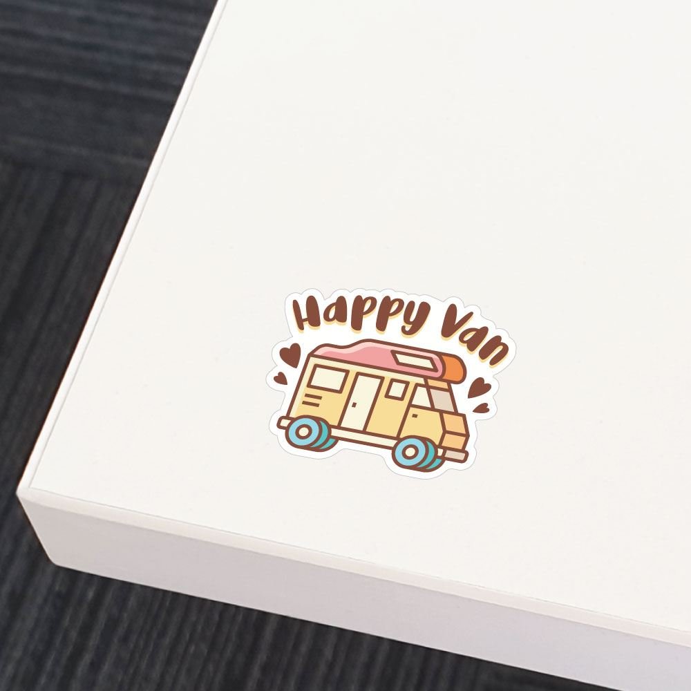 Happy Van Sticker Decal