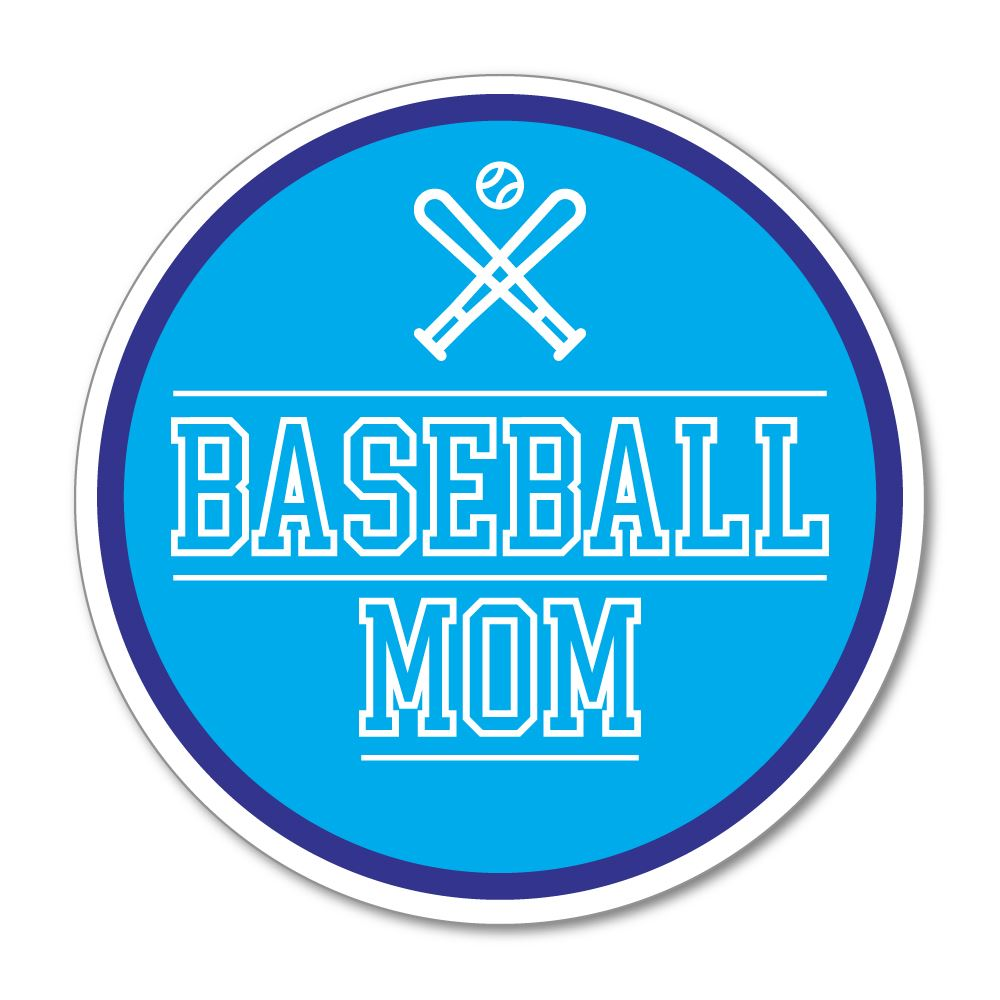 Baseball Mom  Sticker Decal