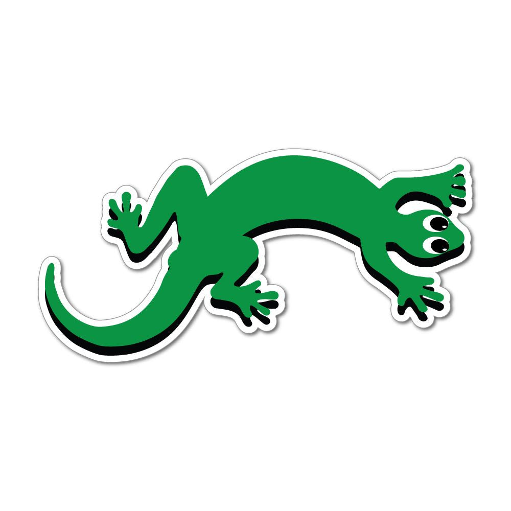 Lizard Animal Cute Funny Green Car Sticker Decal