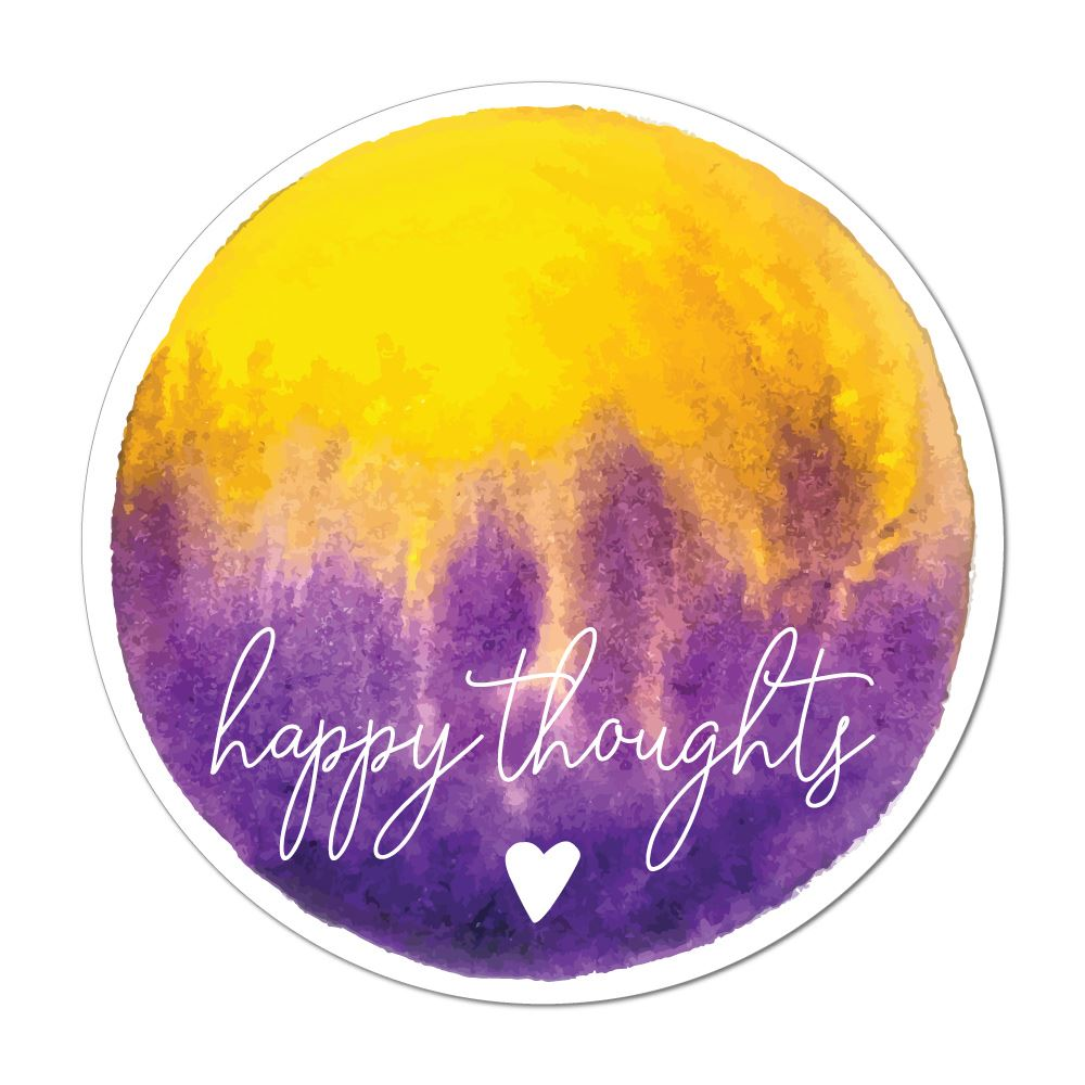 Happy Thoughts Laptop Car Sticker Decal