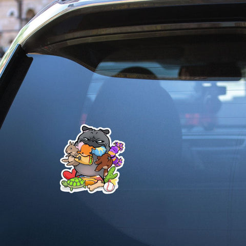 Stuffies Toys Black Pug Sticker Decal