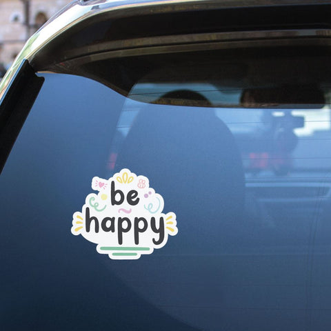 Be Happy Sticker Decal