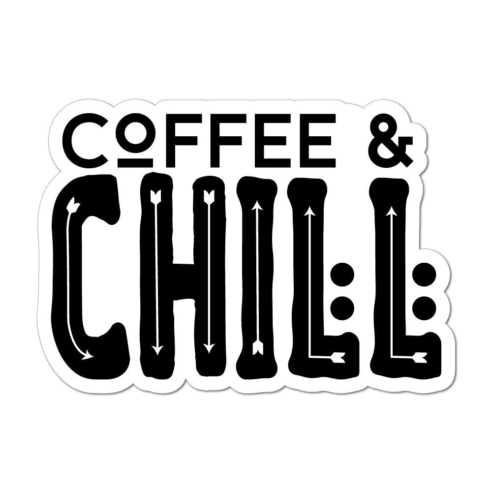 Coffee And Chill Laptop Car Sticker Decal