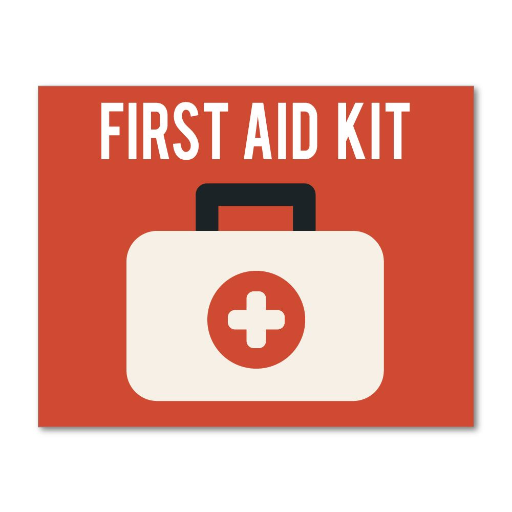 First Aid Kit Sticker Decal