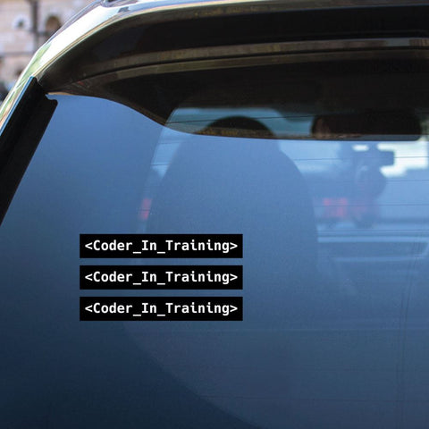3X Coder In Training Sticker Decal
