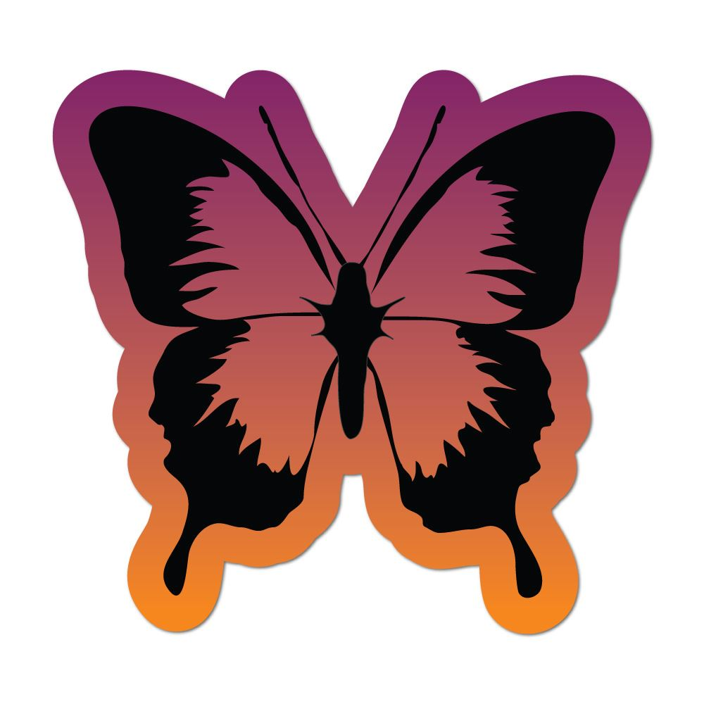 Butterfly Tie Dye Rainbow Colour Galaxy Pretty Insect Pink Car Sticker Decal