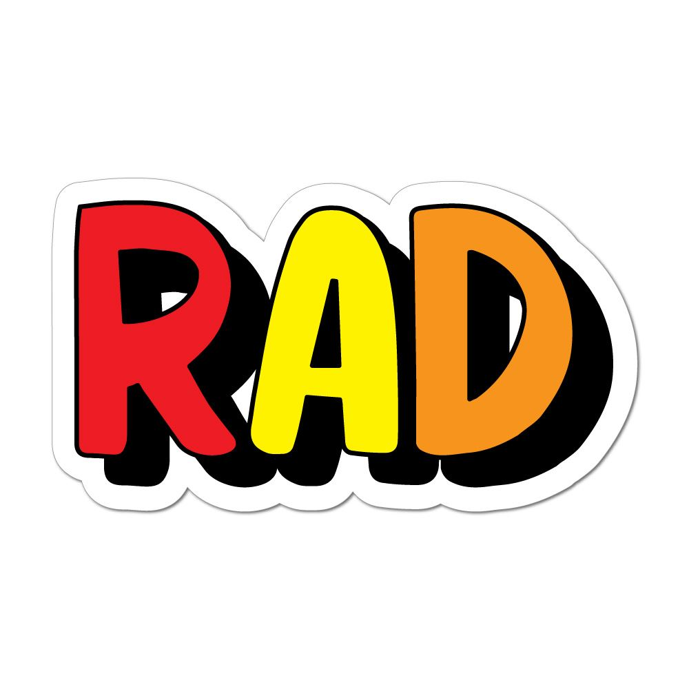 Rad Awesome Cool Dope Slang Radical West Coast Car Sticker Decal