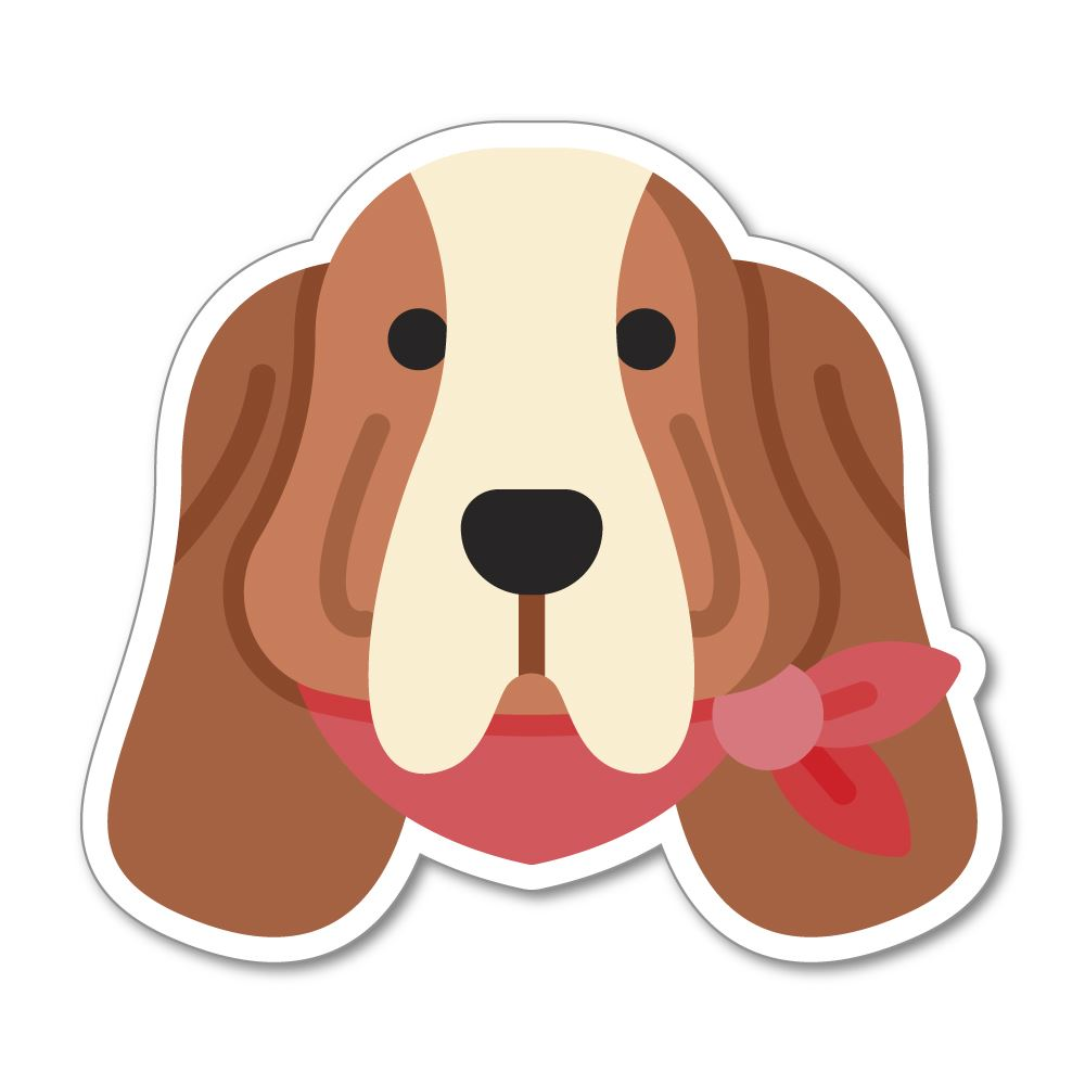 Basset Hound Sticker Decal