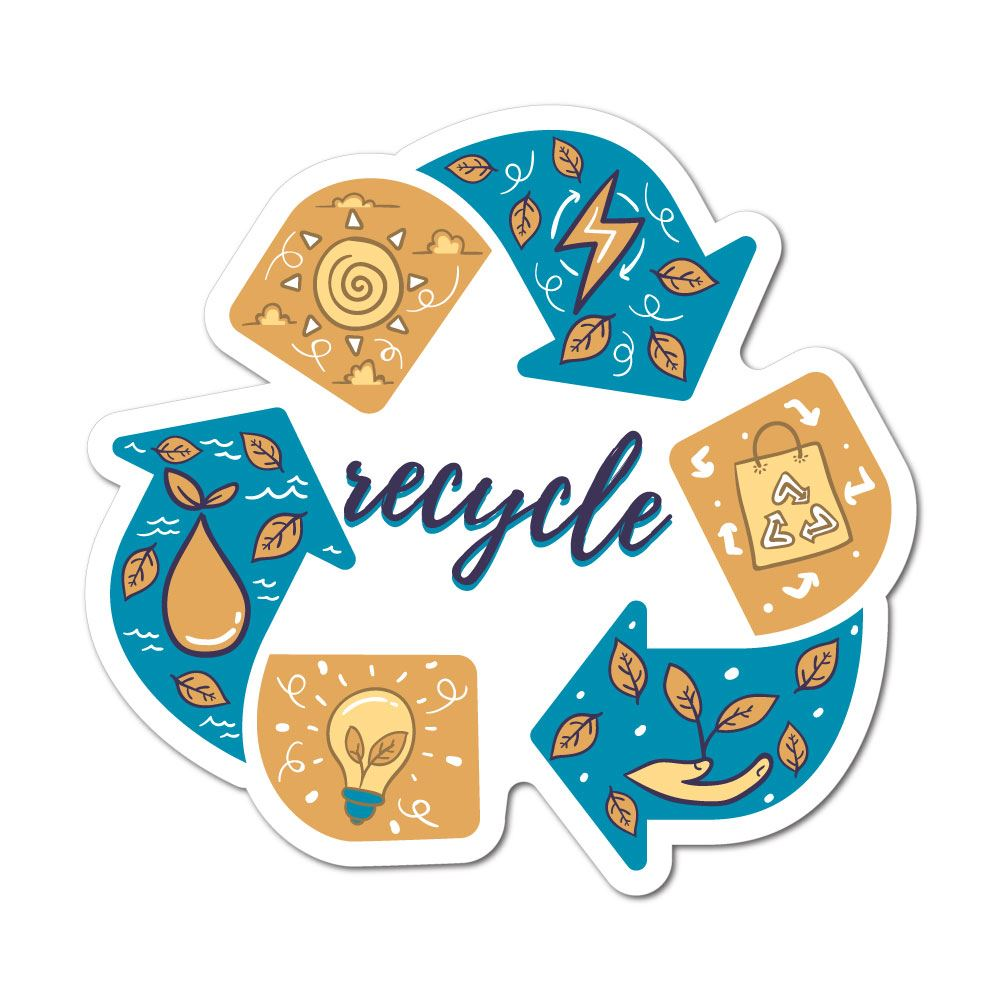 Recycle Sticker Decal