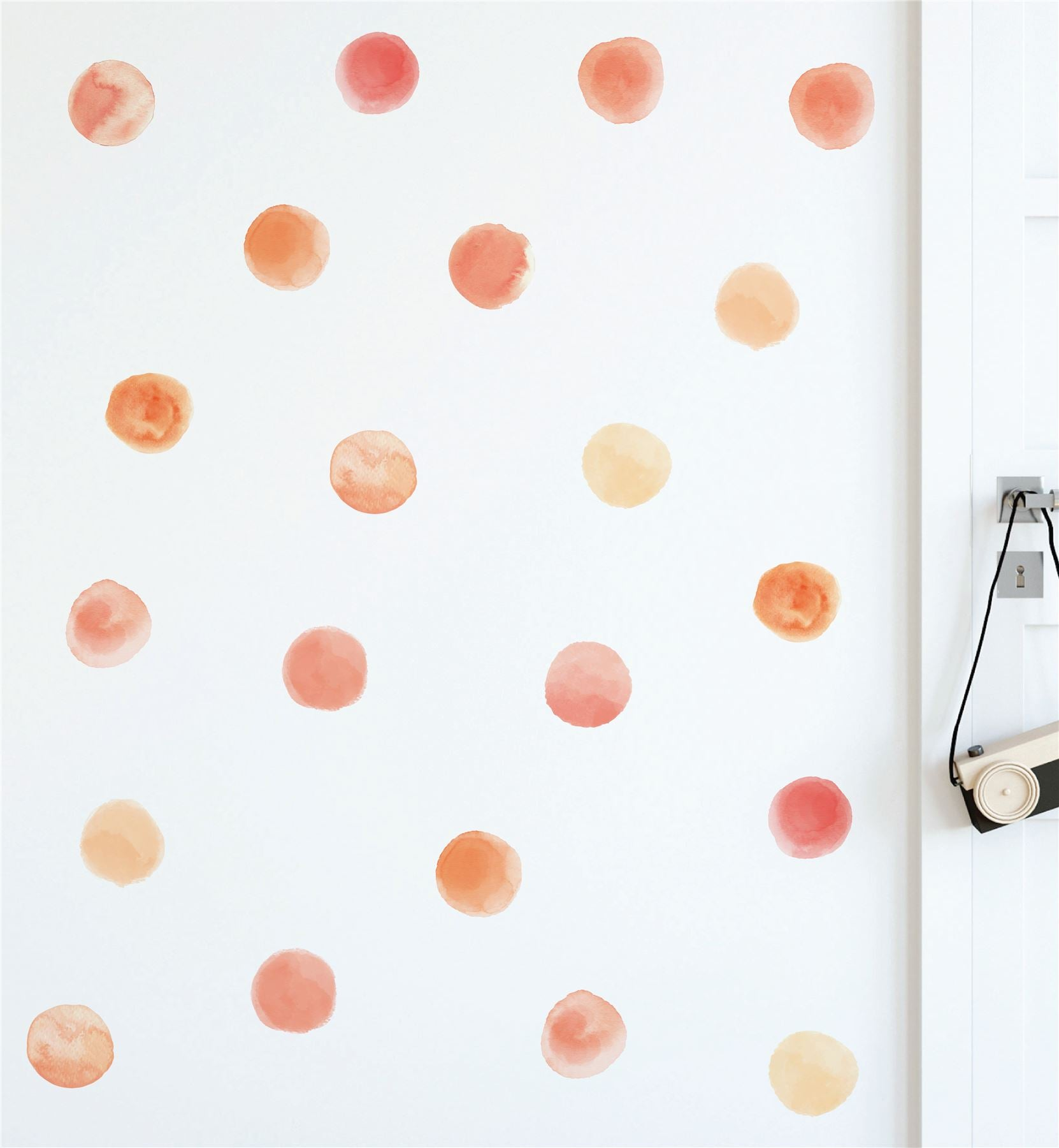 Watercolour Circles (Collection Of 24) Wall Sticker Decal
