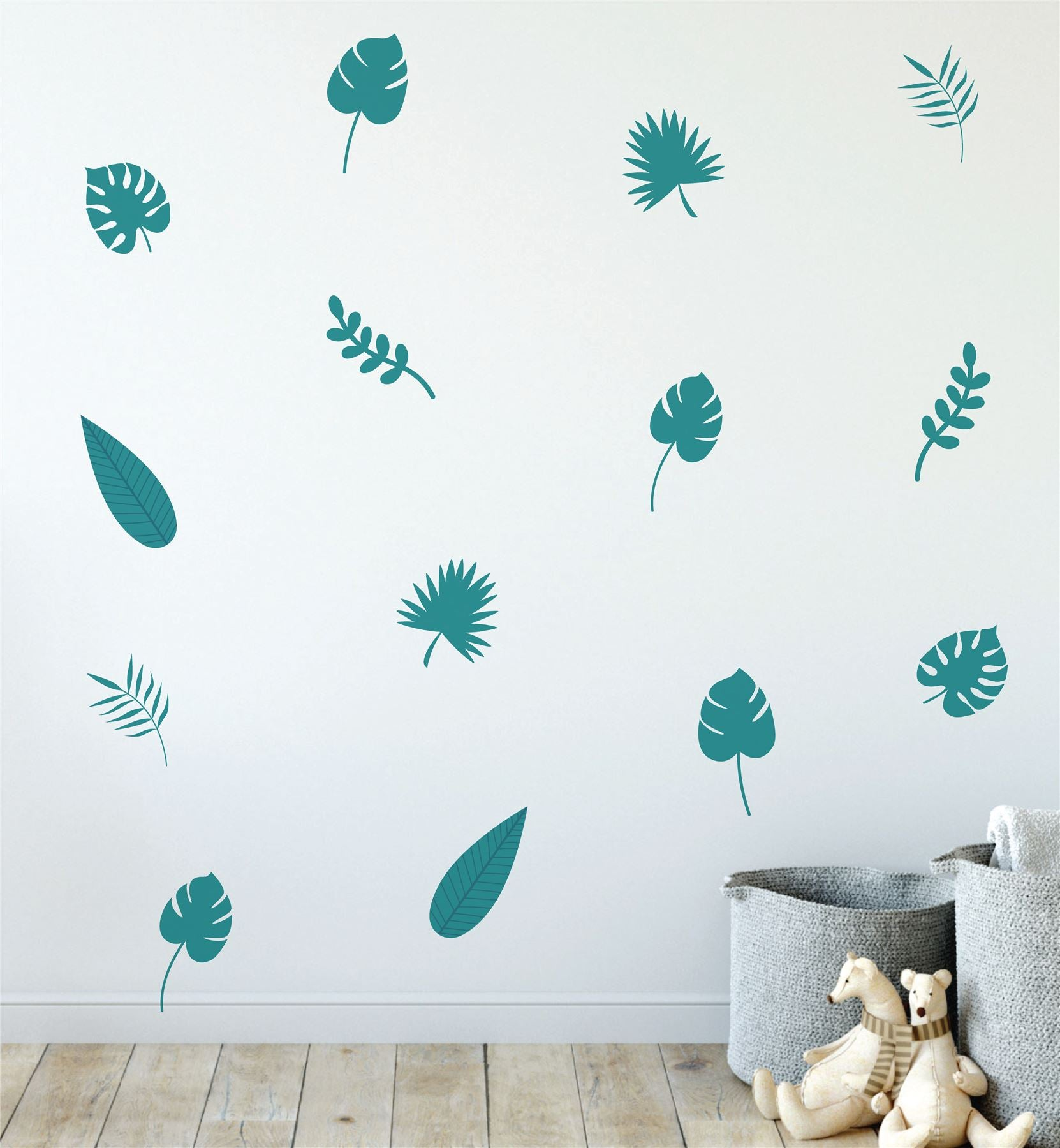 Tropical Leaves (Collection Of 32) Wall Sticker Decal