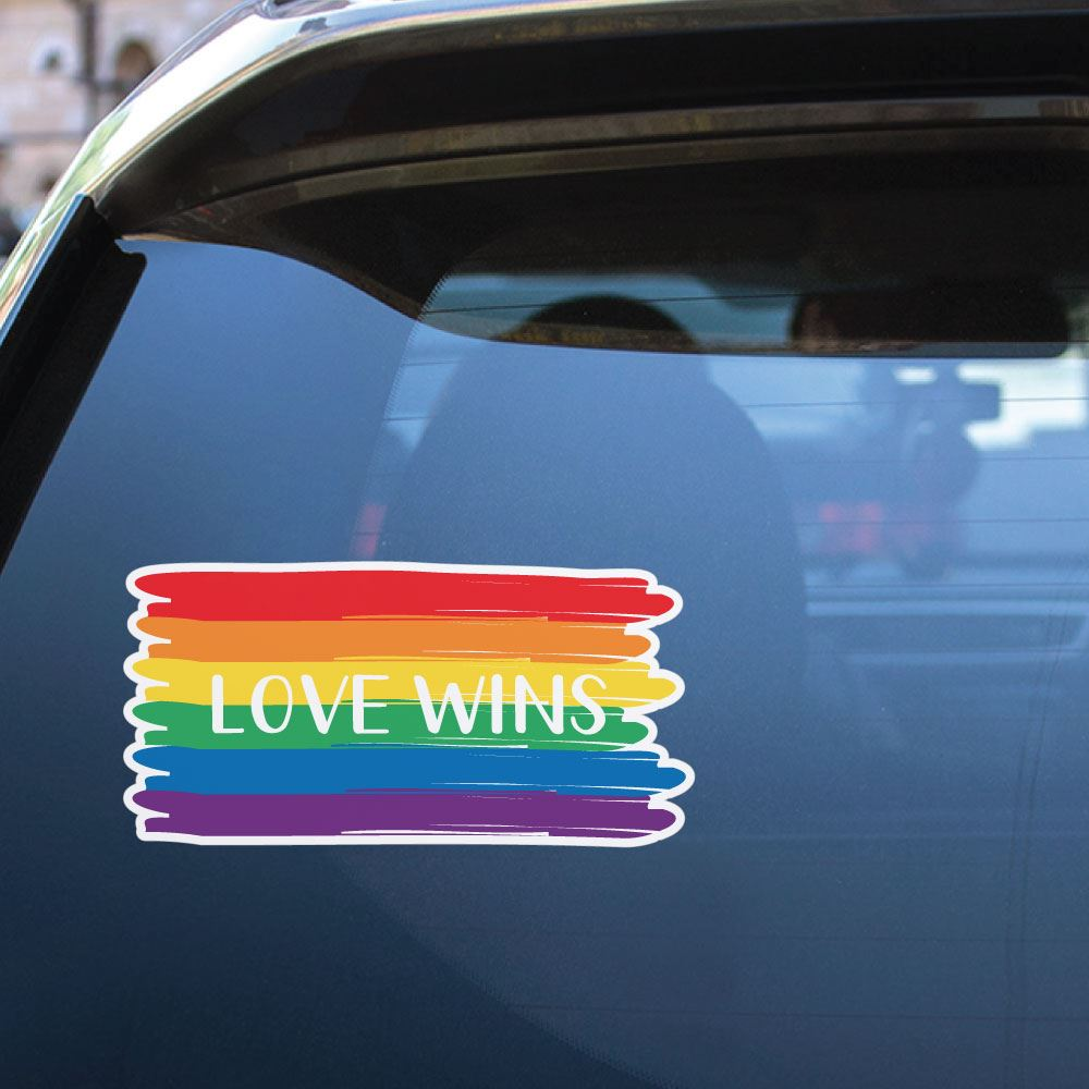 Love Wins Everytime Sticker Decal