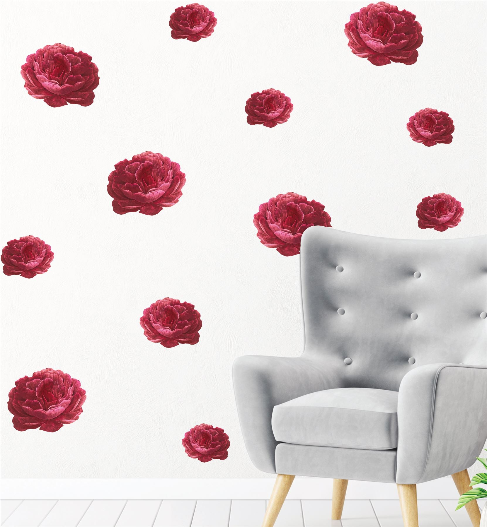 Roses (Collection Of 20) Wall Sticker Decal