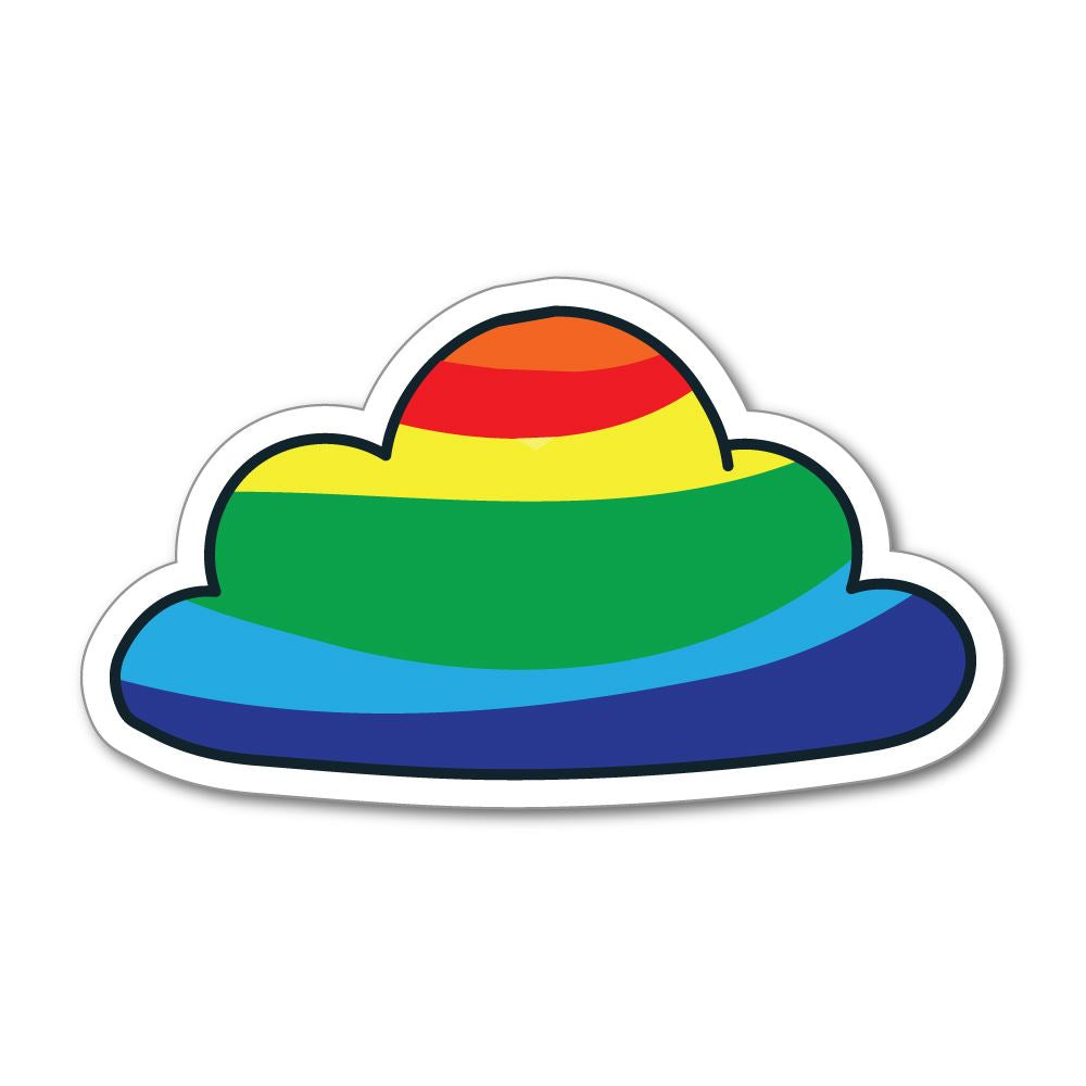 Rainbow car sticker decal
