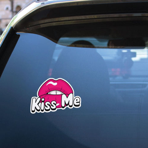 Kiss Me  Sticker Decal