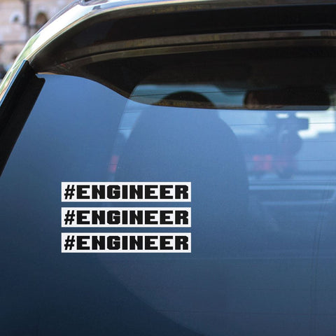 3X Engineer Sticker Decal
