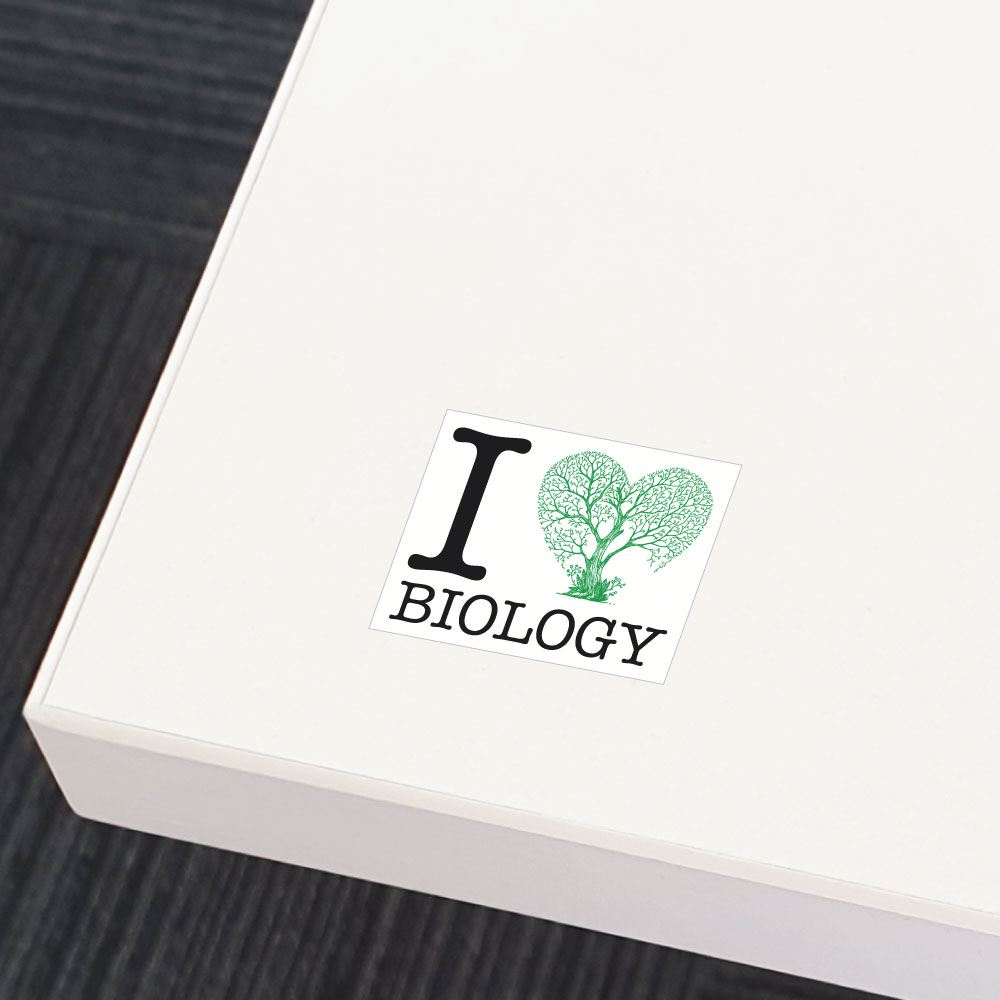 I Love Biology Sticker Decal