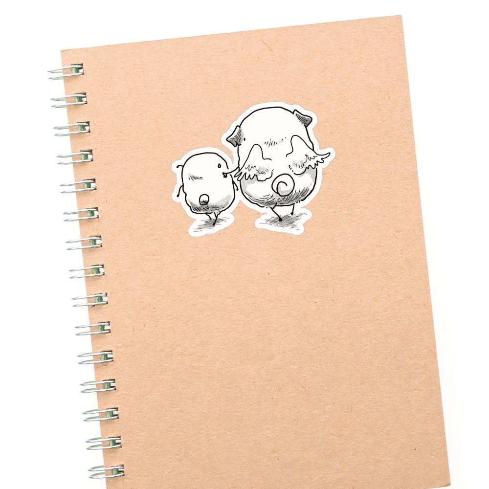 Angel Pugs Sticker Decal