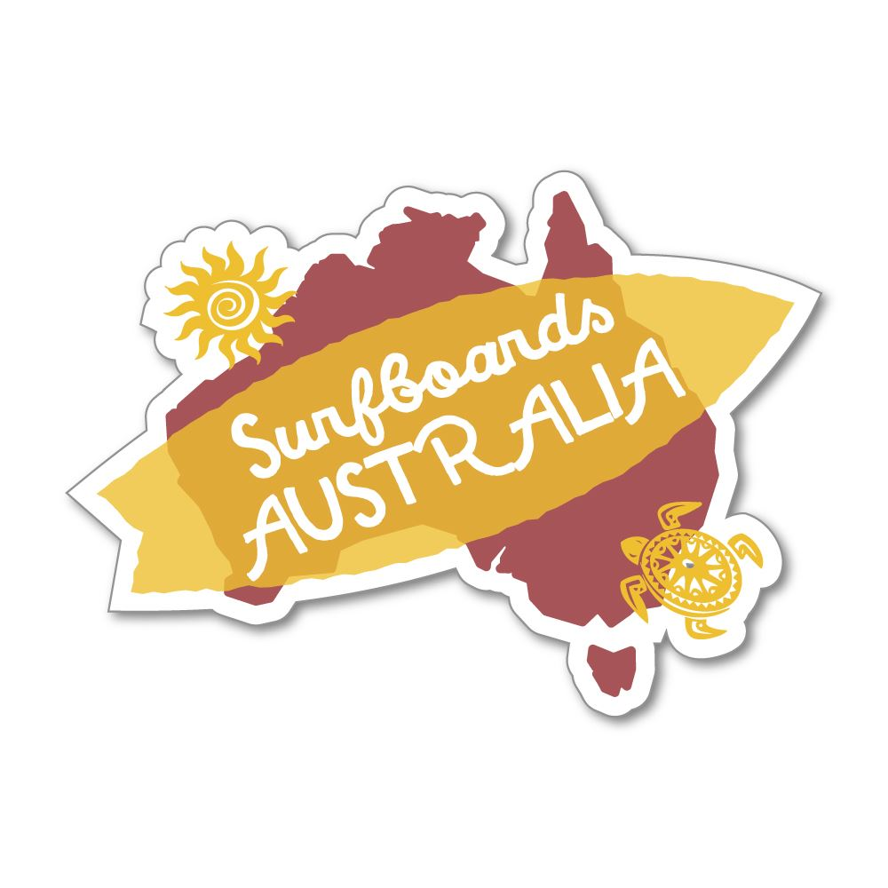 Surf Vintage Retro Ocean Australia Sticker Decal