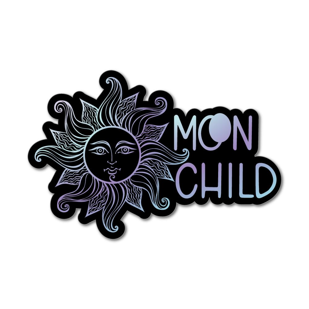 Moon Child Laptop Car Sticker Decal