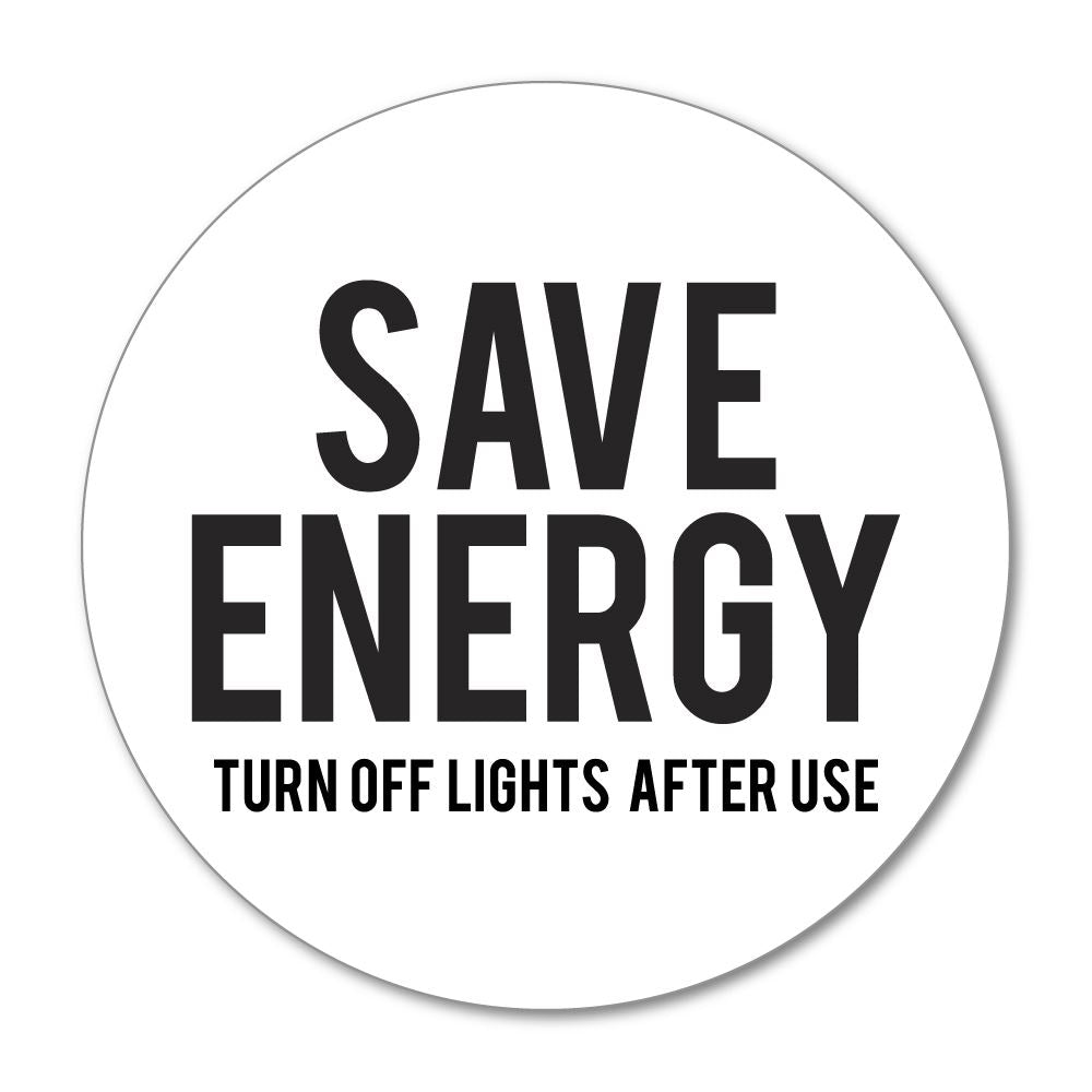 Save Energy Sticker Decal