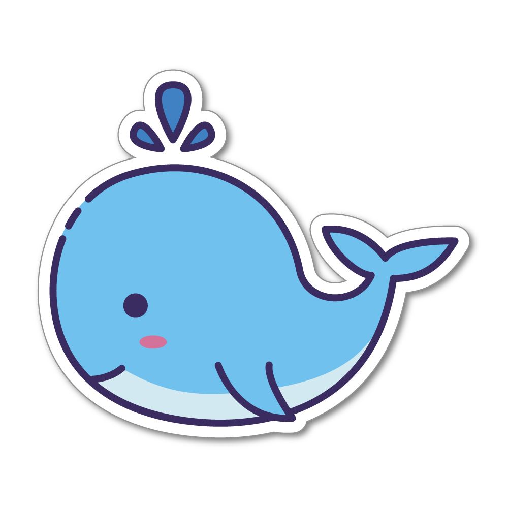 Whale Sticker Decal