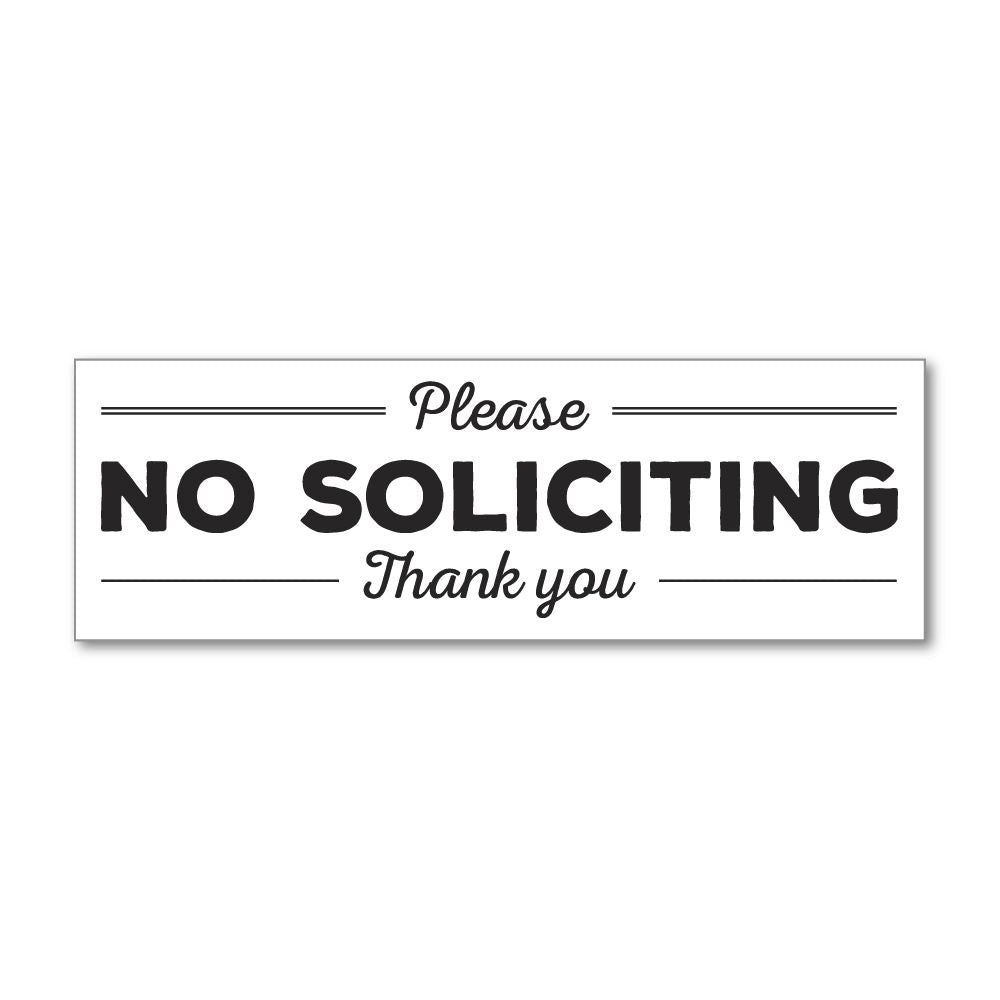 No Soliciting Sticker Decal