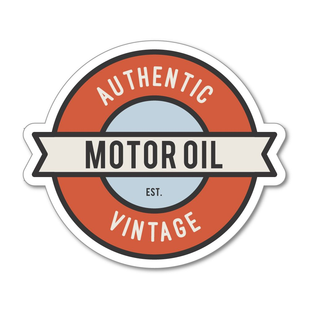Motor Oil Sticker Decal