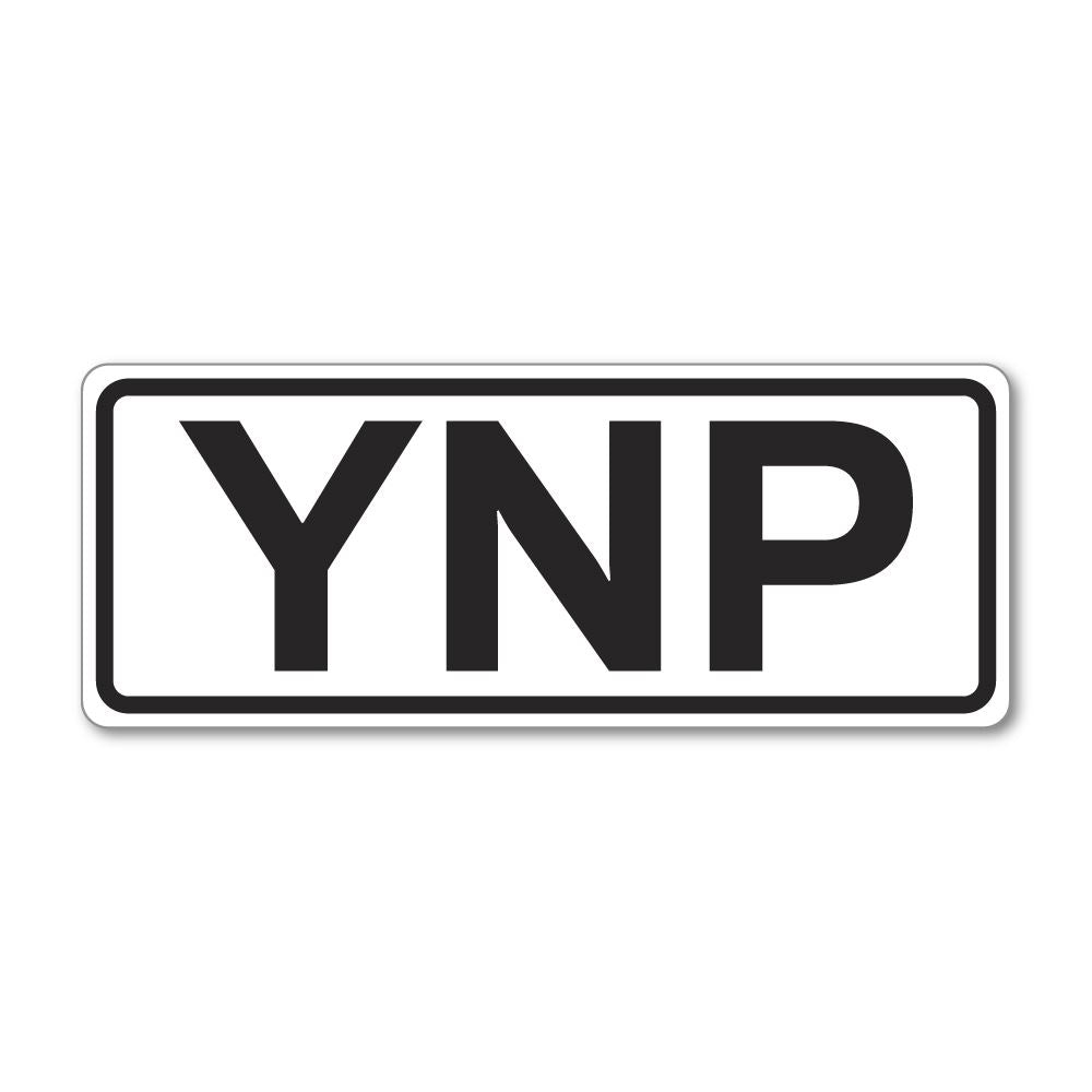 Ynp Yellowstone National Park Sticker Decal