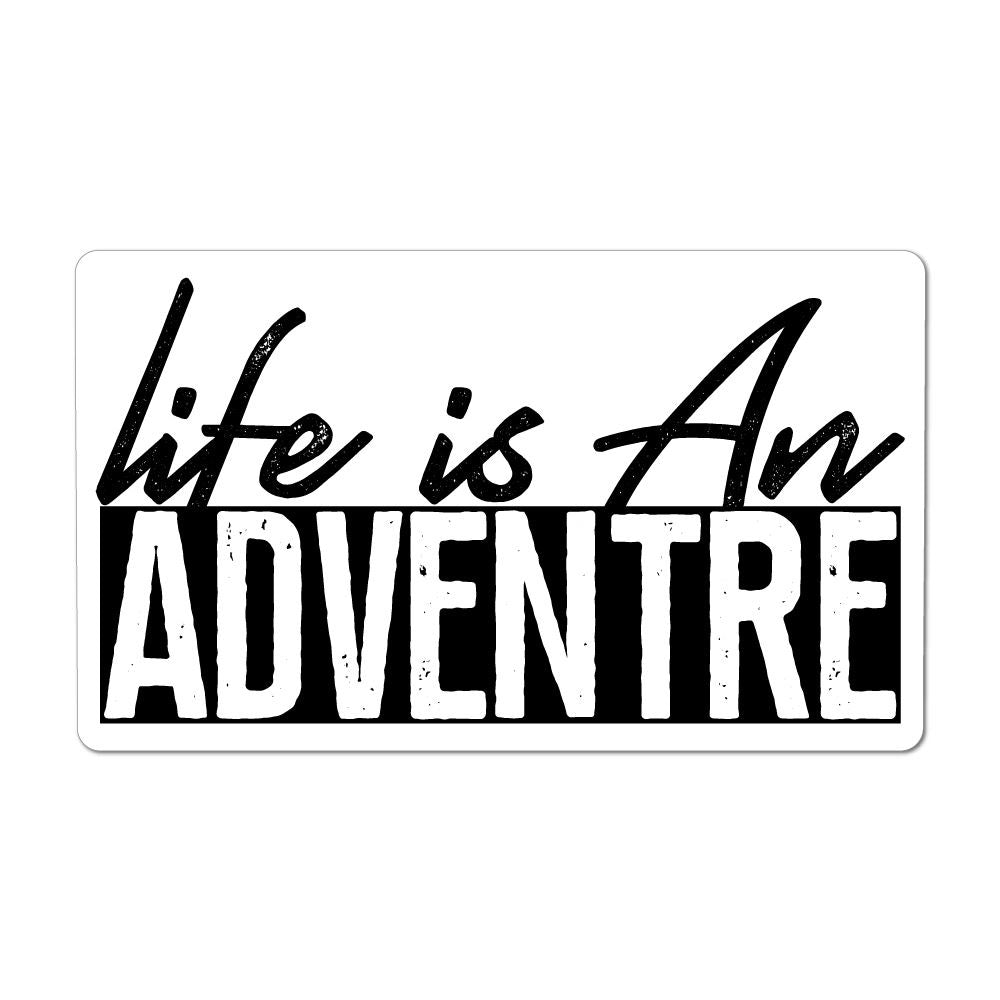 Life Is An Adventure Laptop Car Sticker Decal