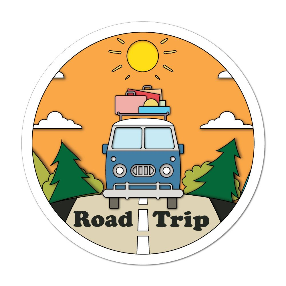 Road Trip Car Sticker Decal