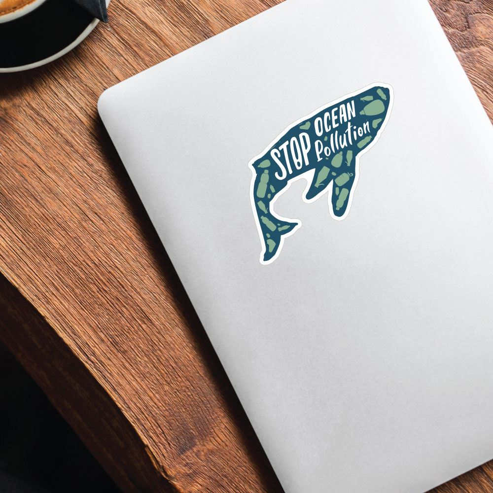 Stop Ocean Pollution Sticker Decal