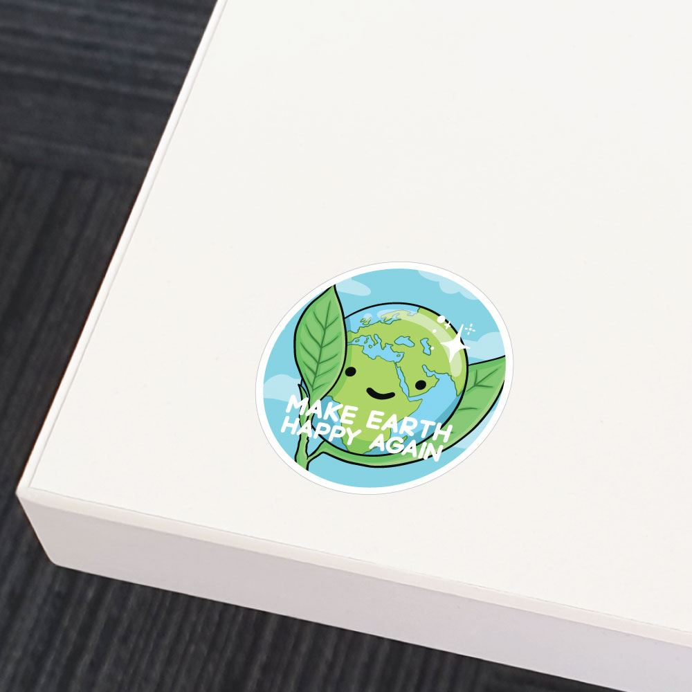Make Earth Happy Sticker Decal