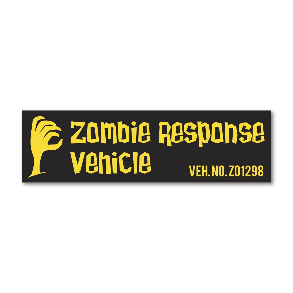 Zombie Response Vehicle Sticker Decal
