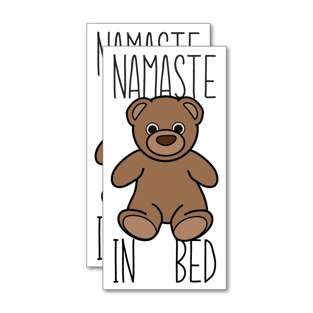 2X Namaste In Bed Sticker Decal