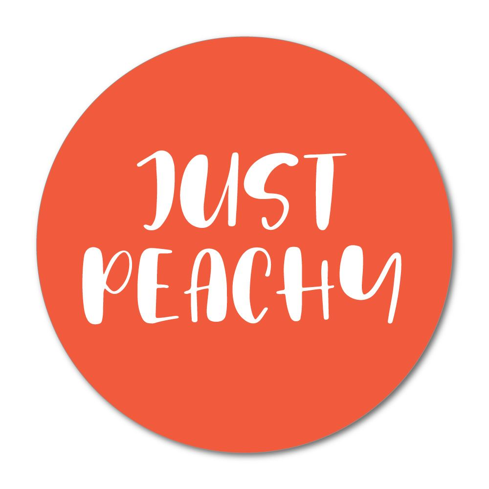 Just Peachy Sticker Decal