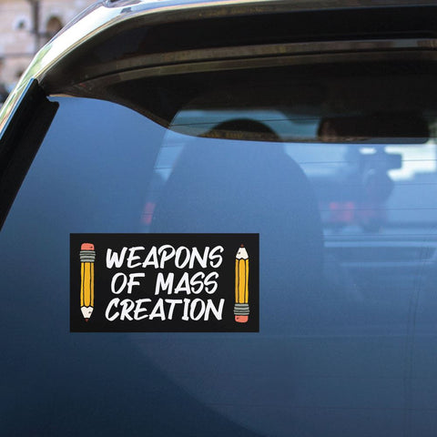 Weapons Of Mass Creation Sticker Decal