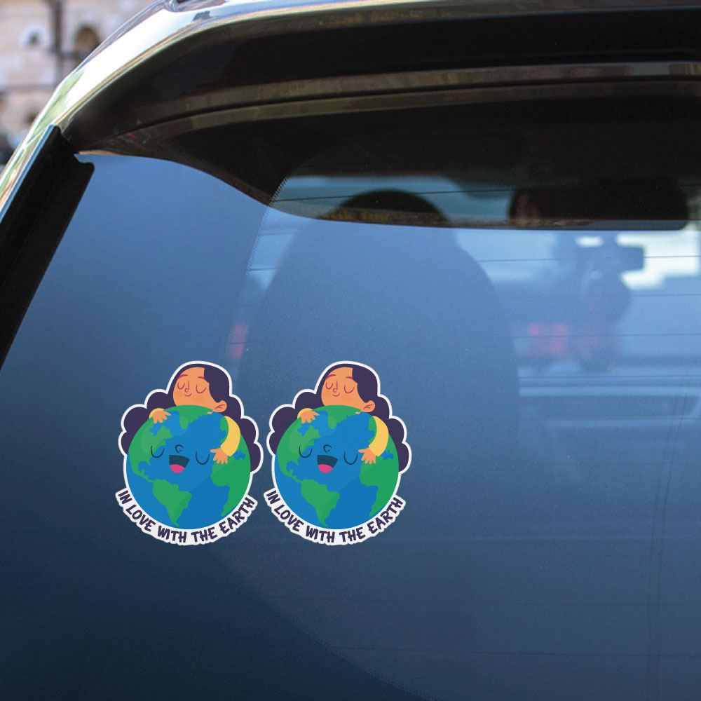 2X In Love With The Earth Sticker Decal