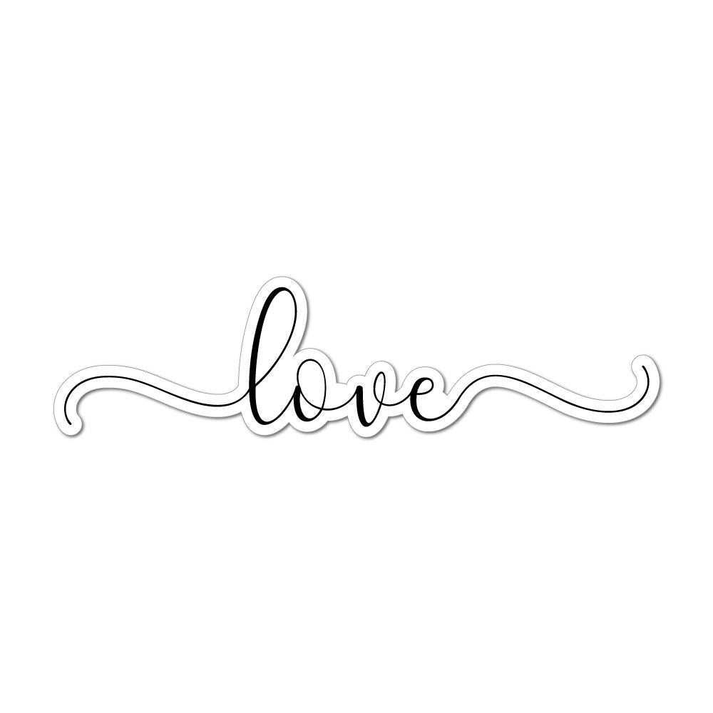 Love Laptop Car Sticker Decal