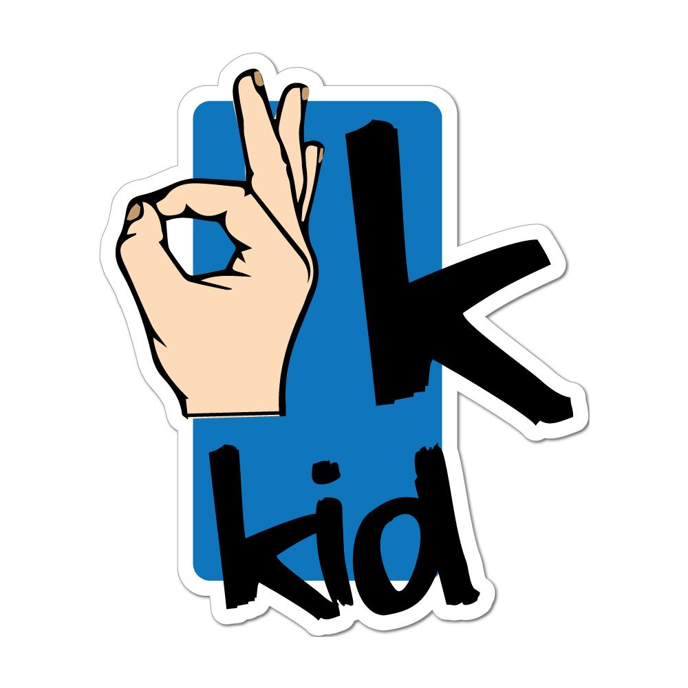 Ok Kid Hand Car Sticker Decal