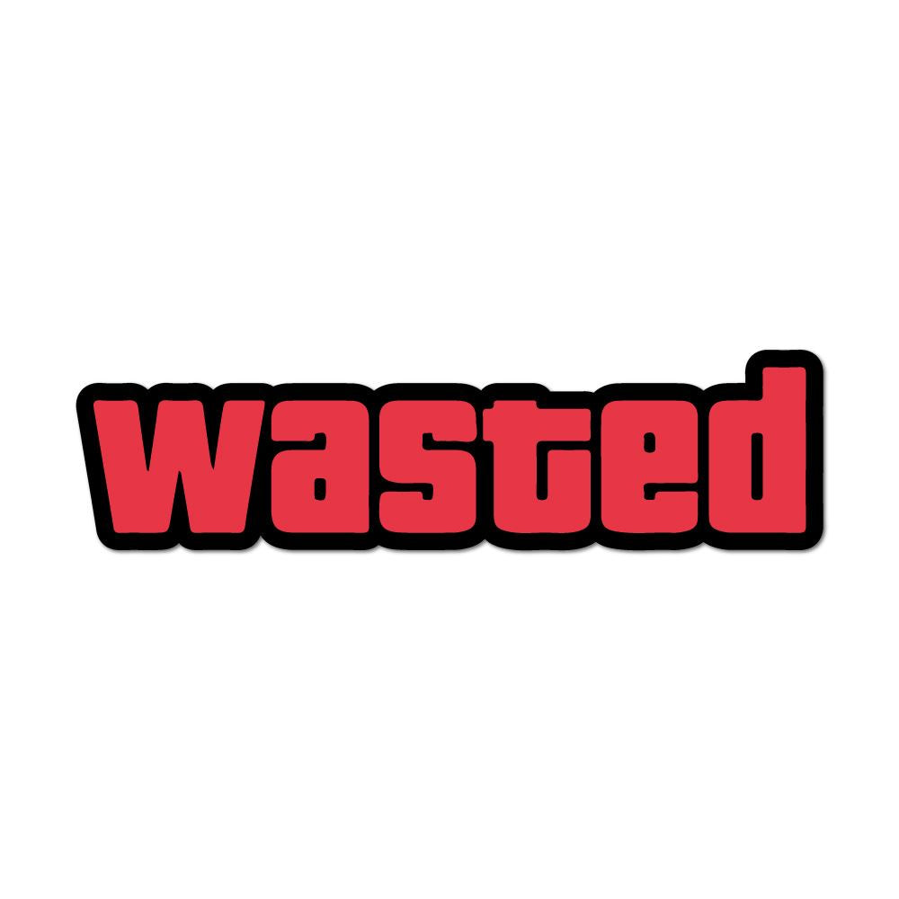 Wasted Funny Text Car Sticker Decal