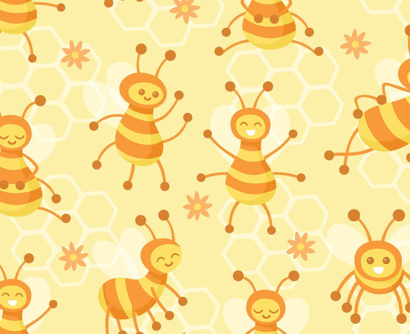 Busy Bees Wallpaper